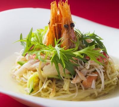中国料理部門で最優秀賞の「海鮮スープ焼きそば」