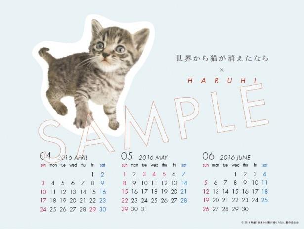 iTunesで4曲入りシングル「ひずみ」を購入すると、 限定特典としてHARUHI×「世界から猫が消えたなら」オリジナルカレンダーBOOKが全員にプレゼントされる