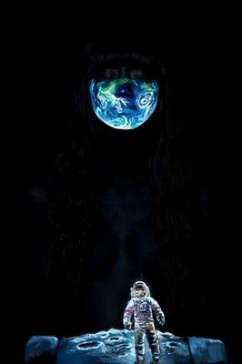宇宙を表現したボディペイント作品【HOME 故郷ペイント】(モデル:アリムスカイデ/写真:ただ)