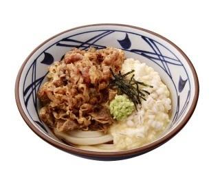 丸亀製麺、もち麦を使った麦とろ牛ぶっかけうどん発売