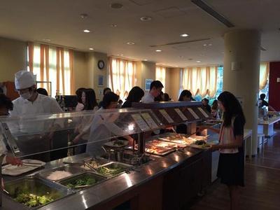 大阪国際ユースホステルで腹ごしらえ!