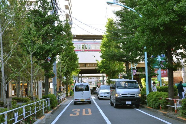 笹塚駅から徒歩2分の位置にある「笹塚観音通り商店街入口」