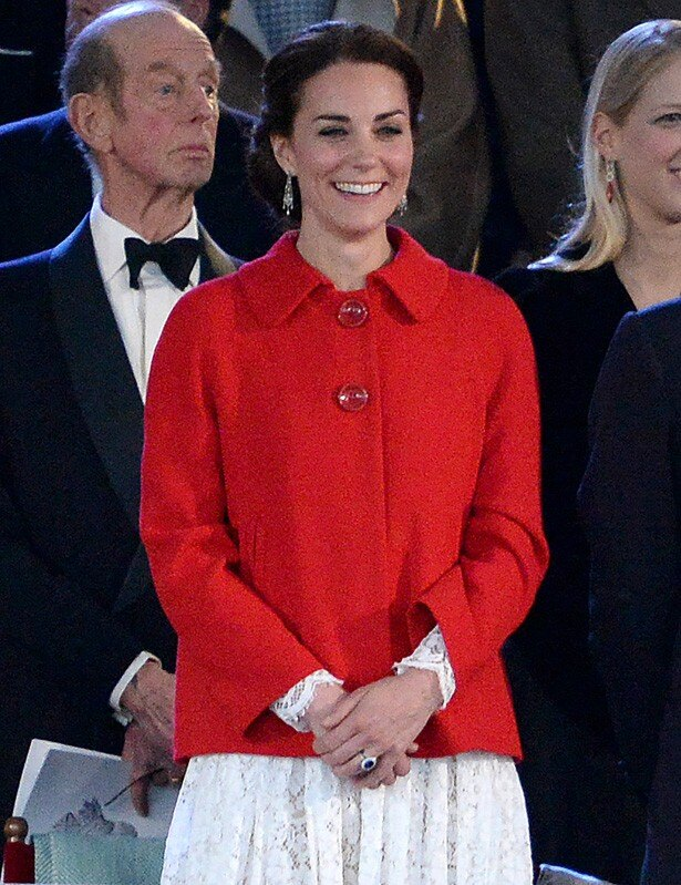ZARAのジャケットで女王の誕生会に出席したキャサリン妃