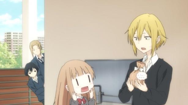 「田中くんはいつもけだるげ」第7話先行カットを公開。田中くんに本命チョコ!?