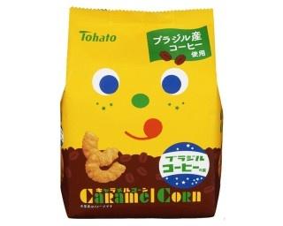 7月4日(月)に発売される「キャラメルコーン・ブラジルコーヒー味」(想定小売価格・税抜122円)
