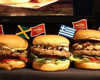 ジャマイカ、ギリシャ、アメリカなど各国のご当地バーガーが登場