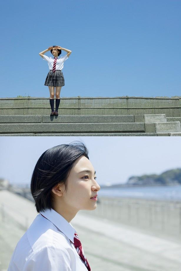 撮影は湘南の海岸でも行われた
