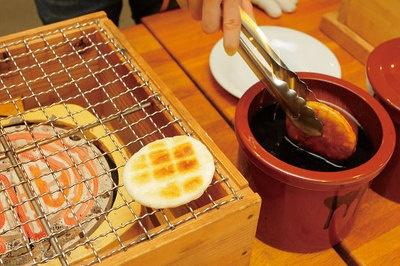 ぬれ煎餅手焼き体験は¥600