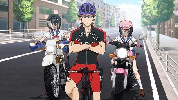 「ばくおん!!」第11話先行カットが到着。バイクと自転車、暗闘の結果は!?