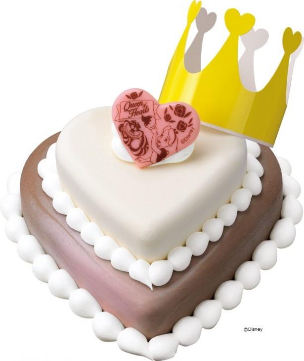 """ハートの女王がどこに隠れているかは食べてからのお楽しみ「""""ハートの女王""""Passion de Rose ~不思議の国の""""アリス""""~」(2500円)"""