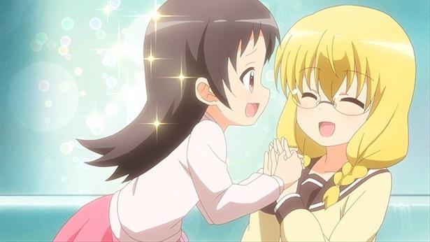 TVアニメ「三者三葉」第11話先行カット&あらすじが到着。葉子様が手づくりチョコを渡す相手とは…?