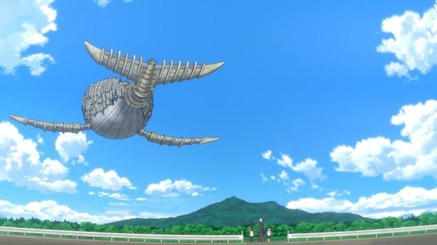 「ふらいんぐうぃっち」第11話先行カットが到着。空とぶくじらを発見!