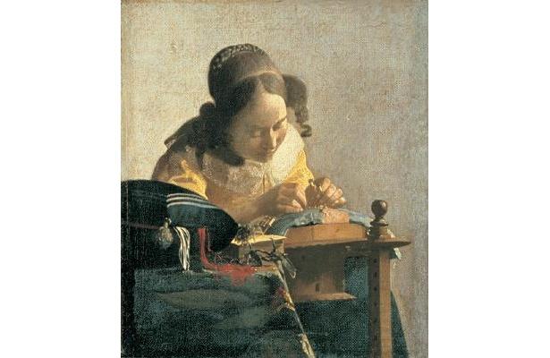 17世紀のオランダ風俗画で、ヨハネス・フェルメール後期代表作。フェルメール作品で最も小さな作品のひとつでもある