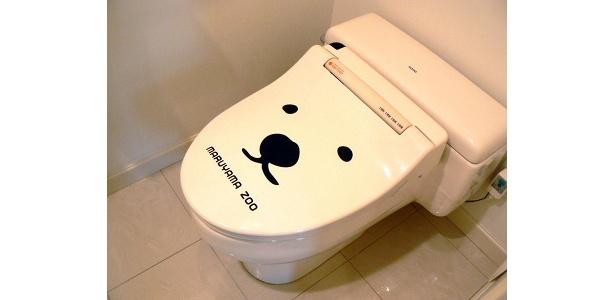 トイレにも白クマの顔が!