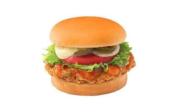 フレッシュトマトと辛さが相性抜群! 「フレッシュトマトのサルサチキンサンド」