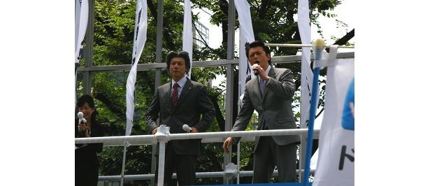麻生首相のものまねをする福本ヒデ