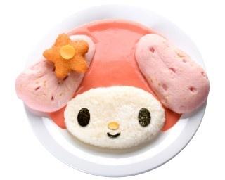 マイメロディをモチーフにしたピンクが基調の「マイメロディピンクカレー」(1400円)