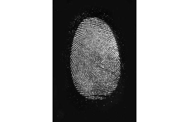 実際に現場で使用されている指紋検出薬で指紋もクッキリ! 「指紋検出」