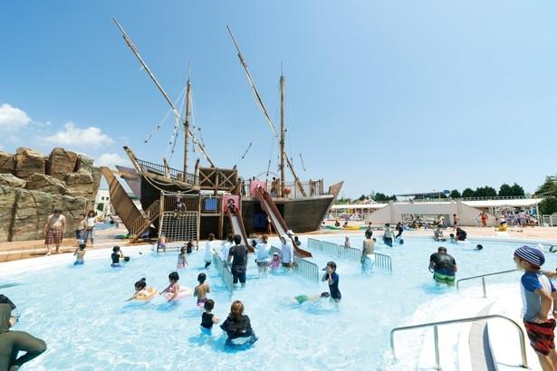 「ラグナシアプール」では、写真の「やどかりさんの海」のほか、6つのプールがある