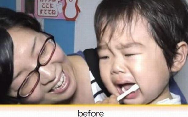 歯磨き嫌いの子どもが・・・