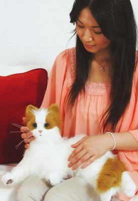 """顔を洗う仕草も!超リアルな""""猫ロボット"""""""