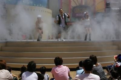 まるで霧の中で踊ってるみたい!