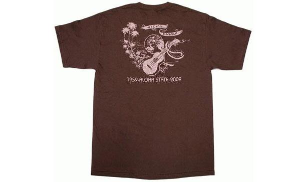 Hau'oliのハワイ州誕生50周年Tシャツ(3000円) ハワイ直輸入の記念Tシャツが3柄そろっている。サイズはメンズS〜L、レディスS。各5色