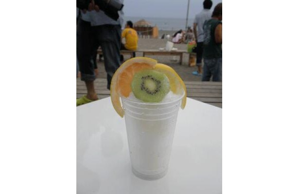 ビューティかき氷「Wグレープフルーツ&キウイ★お肌キラキラかきごおり」¥500