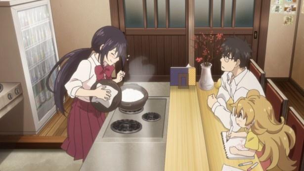 新アニメ「甘々と稲妻」第1話場面カットが到着。親子と女子高生とおいしいご飯
