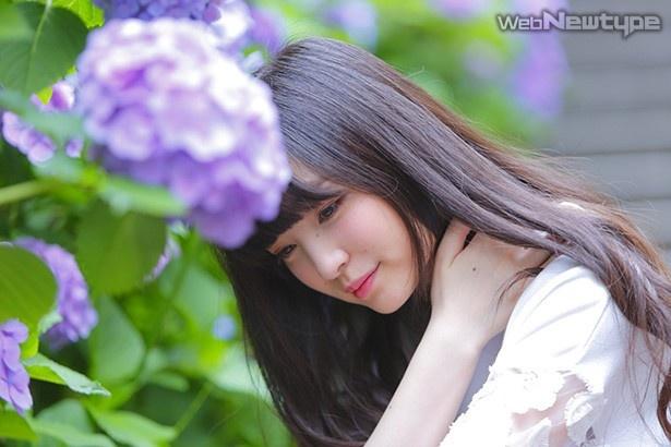 上田麗奈フォトコラム第18回・梅雨の紫陽花はマーブル模様