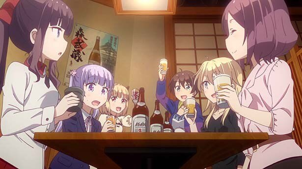 TVアニメ「NEW GAME!」第2話先行カットが到着。仕事のあとはやっぱり一杯♪