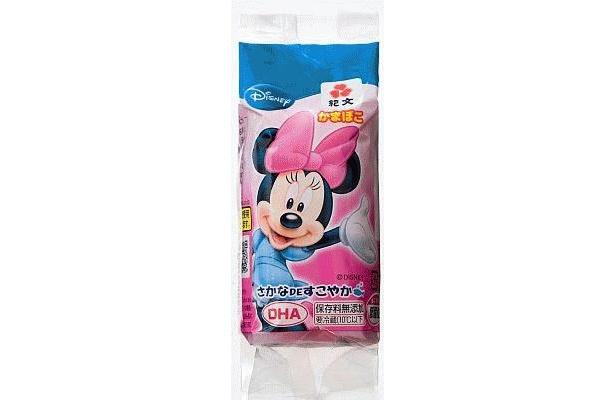 「かまぼこ/ミニー」のパッケージはもちろんミニーマウス