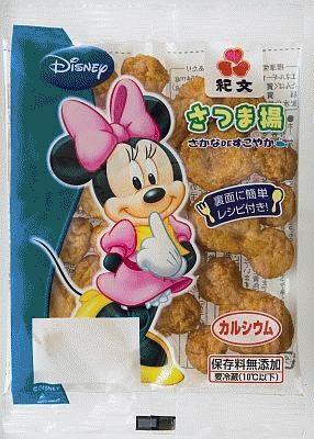 「さつま揚げ/ミッキー」は、ミニーの絵柄のパッケージもある(中身はミッキーと同じ)