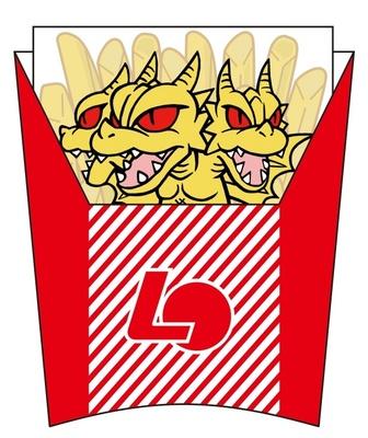 ロッテリアオリジナルの「シン・ゴジラ」グッズのキングギドラメモ帳ではポテトの中にキングギドラが!