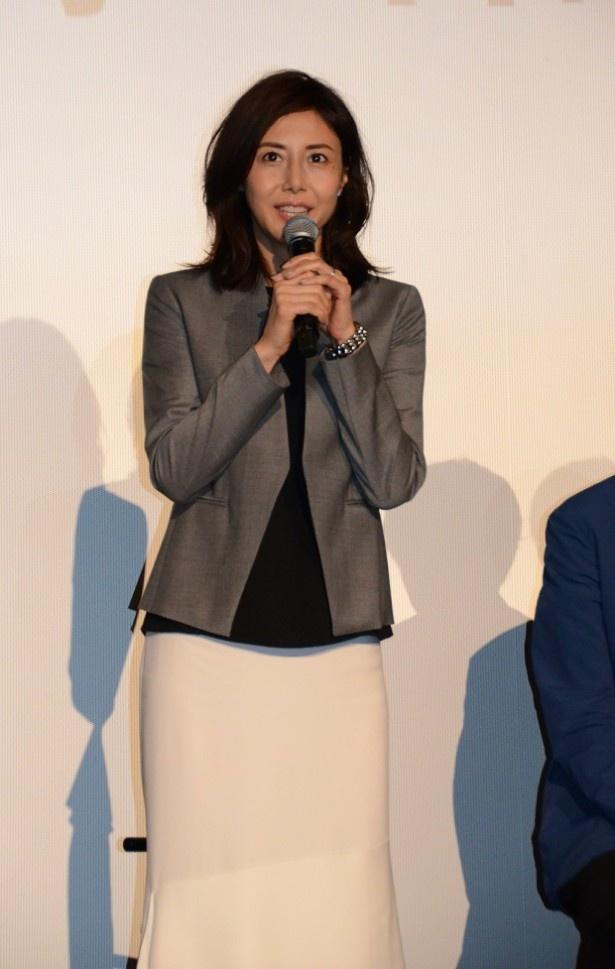 松嶋は「幅広い層の方に見ていただけると思いますので、ぜひご覧になってください」と視聴者にメッセージを
