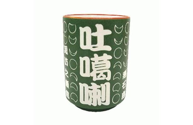 トカラ日食オリジナル湯のみ(ネット特別価格880円)は、トカラ列島有人7島の名と、太陽の満ち欠けのイラスト入り