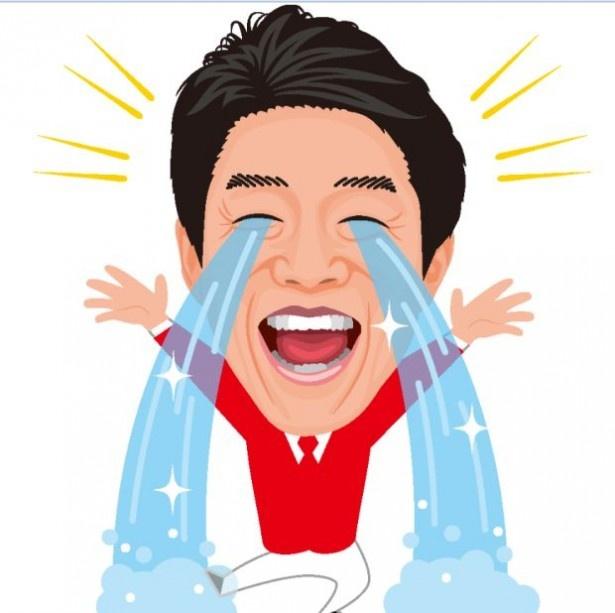 大量の涙を流す松岡修造