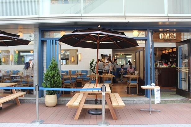 ポートランドのカフェをイメージしたテラス席