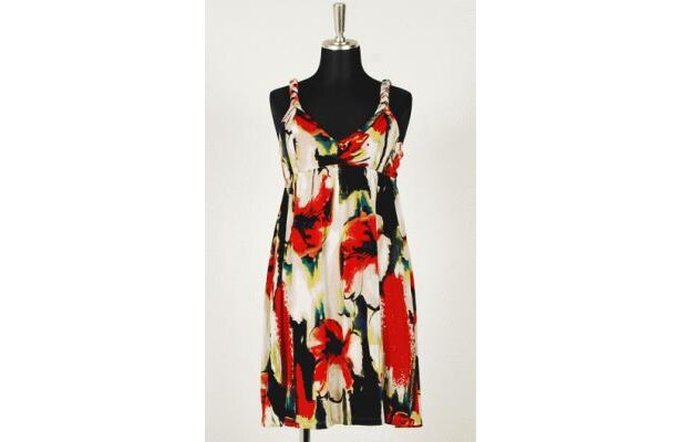 「Foever21」Braided Strap Floral Dress(¥6930)