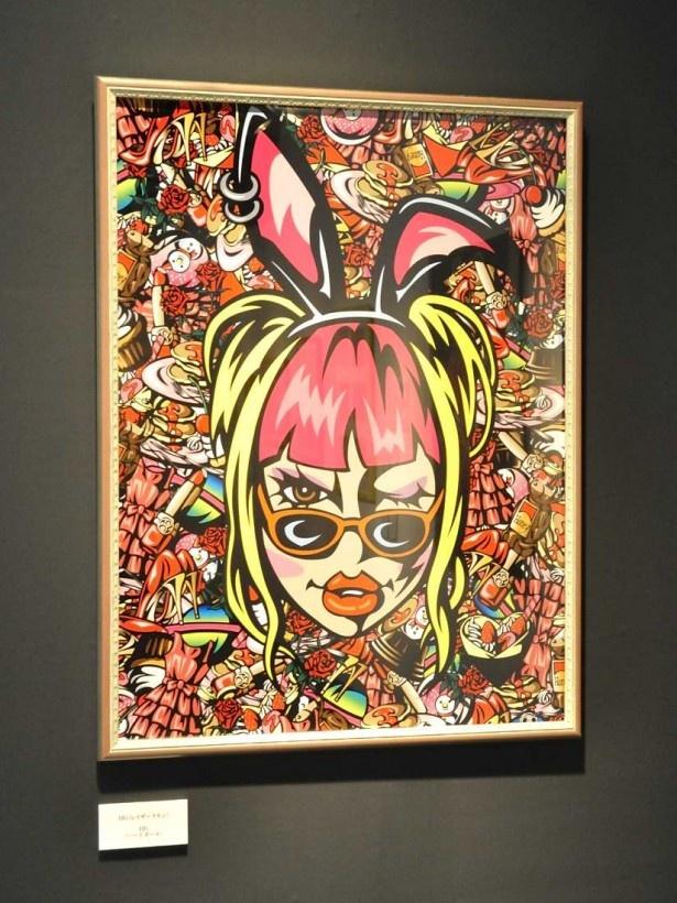 レイザ―ラモンHGの「ウサガール」。番組の企画で現代アートの村上隆のアトリエで半年修行し、個展は2回開催している