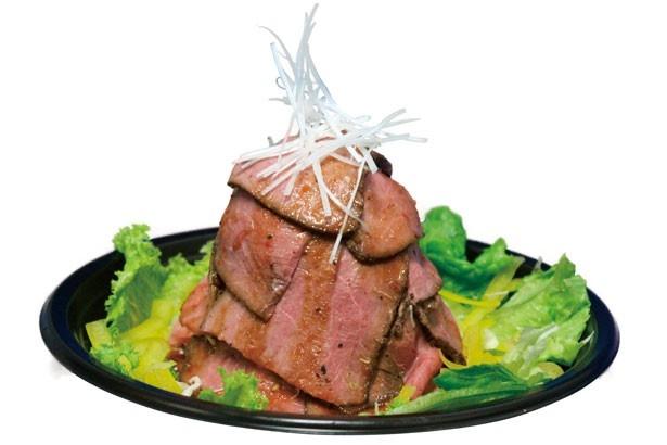 ローストビーフが贅沢に重なった「ローストビーフ丼 ウル虎盛り」(1500円)