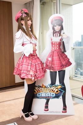 アーケードゲーム「マジシャンズデッド」のキャラクター、クラリスの衣装がよく似合う