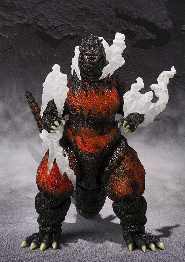 「S.H.MonsterArts ゴジラ(1995) Ultimate Burning Ver.」商品写真