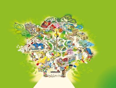 レゴランド・ジャパンは7つのエリアに分かれていて、それぞれのテーマに沿ったアトラクションやショーが楽しめる