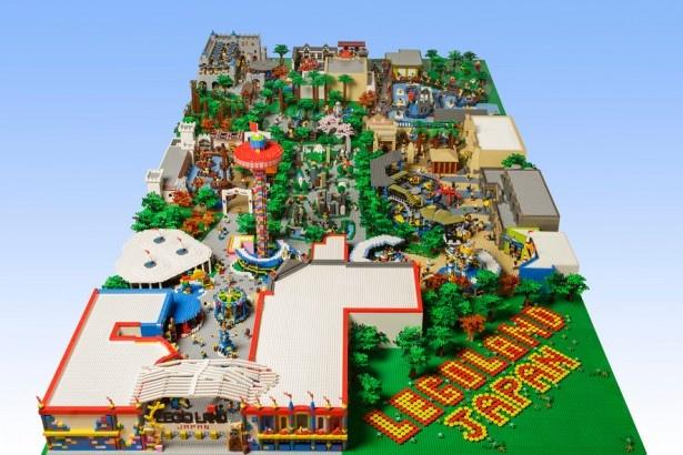 レゴランド・ジャパンの完成イメージを再現したパークジオラマ。ジェイアール名古屋タカシマヤで見ることができる