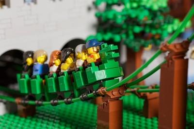 ナイト・キングダムエリアのザ・ドラゴンもレゴブロックで再現!