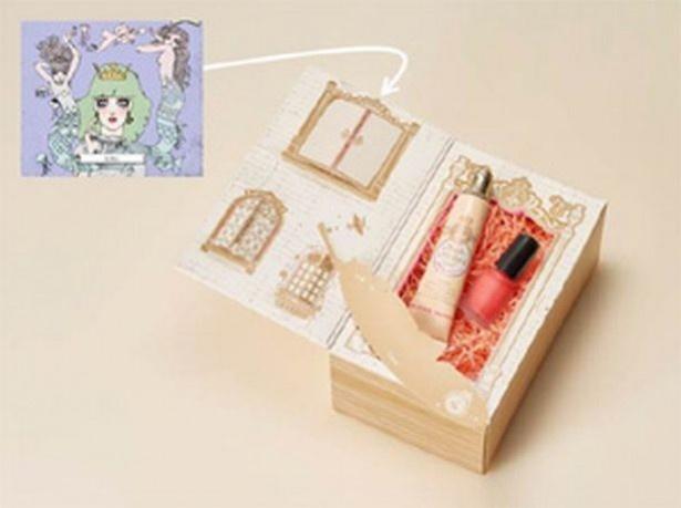 「マジョリカ マジョルカ」のアイテムと、作った似顔絵カードをセットにした「ギフトボックス」もオーダーできる