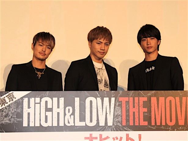 『HiGH&LOW THE MOVIE』の初日舞台挨拶が開催された