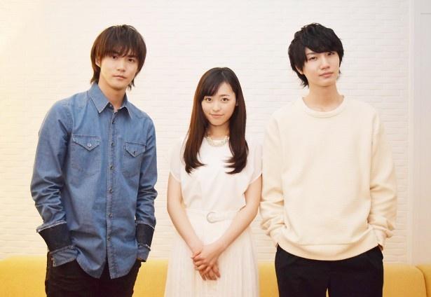 福原遥(中央)、白石隼也(左)、桜田通(右)の3人に、ドラマ「グッドモーニング・コール」についてインタビュー!
