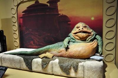 スター・ウォーズシリーズには100種類以上の知的生命体や巨大生物が登場する。巨体の犯罪王ジャバ・ザ・ハットはその中でも印象的だ